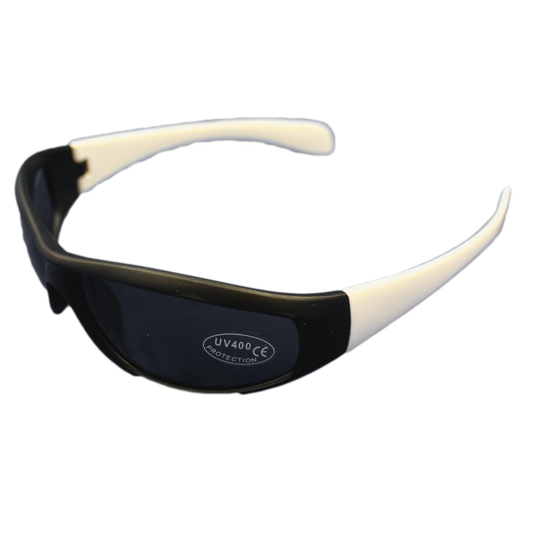 Occhiali da sole avvolgenti unisex UV400 per proteggere dal sole durante le vacanze Nero Blue aj46QRU