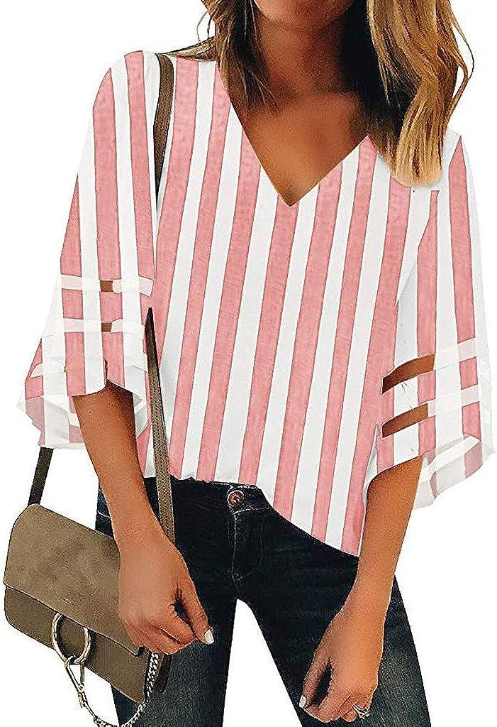JYJM T - Camiseta de Manga Corta para Mujer, Color Liso y ...