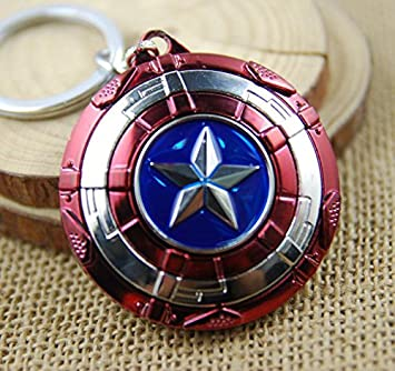 N10BD Llavero con Escudo del Capitán América con Estrella ...