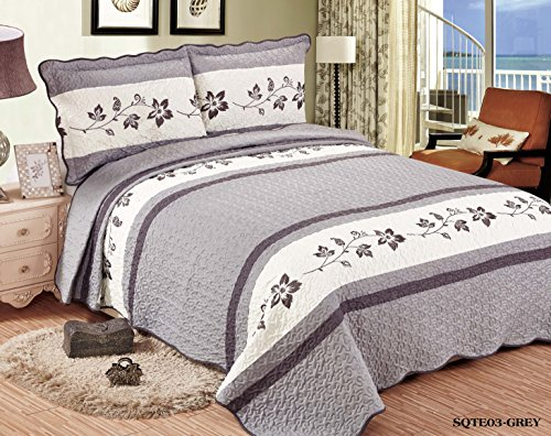 Review Of QUALITEX Beautiful Embroidery 3 piece Quilt Set with Shams. Soft All-Season Bedspreads Set...