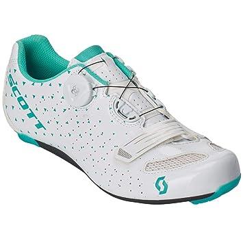 Scott Road Comp Boa 2019 - Zapatillas de Ciclismo para Mujer, Color Blanco y Turquesa: Amazon.es: Deportes y aire libre