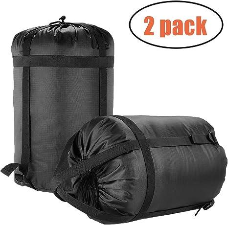 Senderismo Mochila para Viajes Okared Paquete de 2 Bolsas de compresi/ón Impermeables para Dormir Bolsa de Almacenamiento para Camping