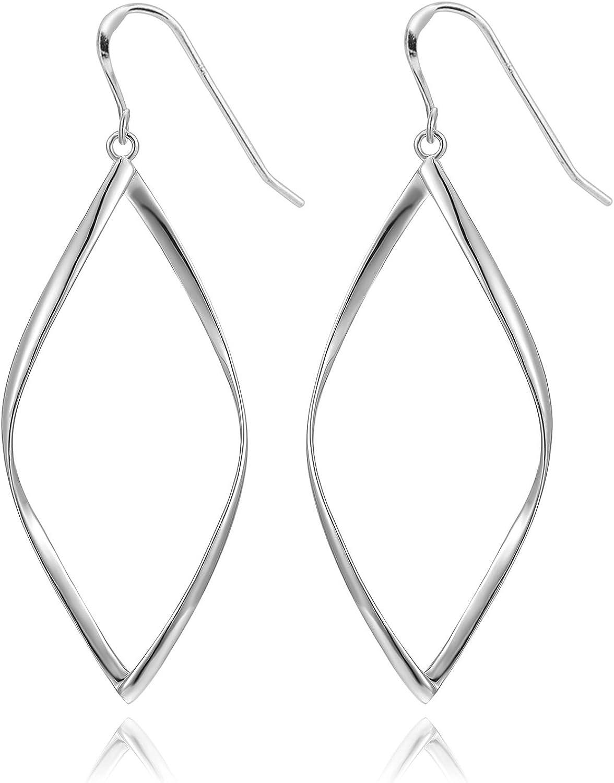 Silver Hammered Hoops Infinity Hoop Unity earrings