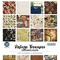 """Colorbok - Bloc de papel de diseño, Vintage Treasures, 12""""…"""