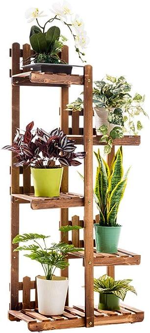 LLHAI Escalera con Balcón, Soporte para Exhibición de Plantas en Macetas, Escalera para Plantas con Estante de Flores para Exterior Interior,Primarycolor: Amazon.es: Hogar