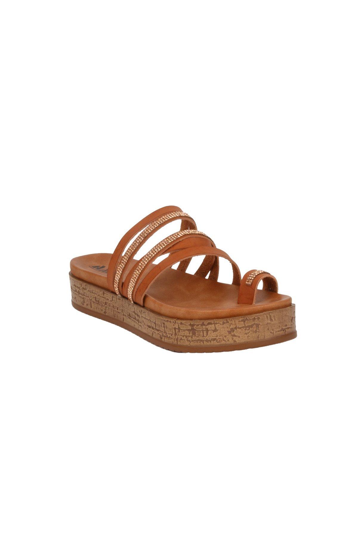 Hadari Women's Platform Slides Summer Flip Flop Beach Toe Ring Sandal