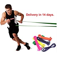 Ashante Store Fitness Bodybulding Equipment - 208cm Natural Latex Pull Up Physio Resistance Bands Fitness Crossfit Loop Bodybulding Yoga Exercise Fitness Equipment