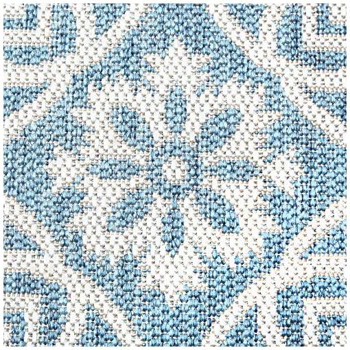 Garden and Outdoor Home Dynamix Nicole Miller Patio Country Danica Indoor/Outdoor Area Rug, 6'6″x9'2″ Rectangle, Blue/Gray outdoor rugs
