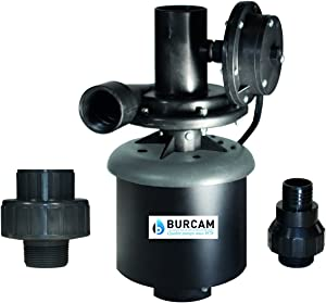 BURCAM 300514WHZ 1/3 HP Automatic Laundry Tub Pump, Black