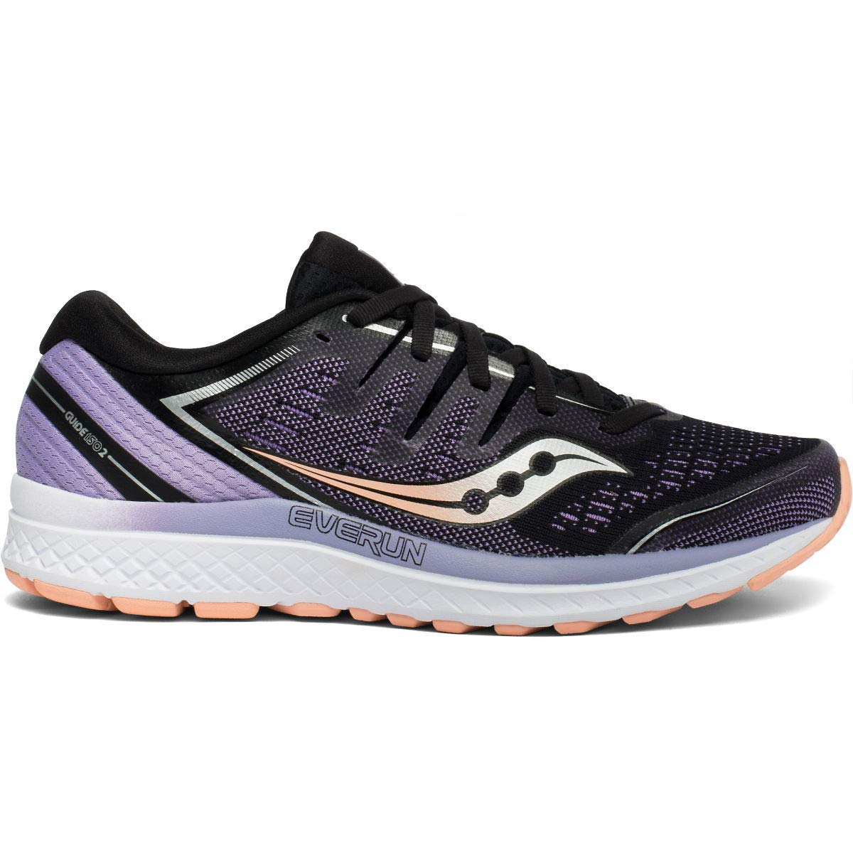 Saucony Women's Guide ISO 2 Running Shoe, Black/Purple, 8.5 M US by Saucony
