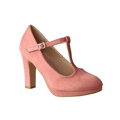 Pumps Schuhe NEU Damen Bequeme 4685 Altrosa 38