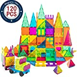 Kids Magnet Toys Magnet Building Tiles, 120 PCs 3D Magnetic Building Blocks Set, Educational Toys for Kids Children