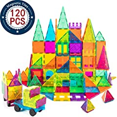 Why choose us?  magnet building tiles has high quality, bright colors appeal to kids. Magnetic building blocks are sized just right and easy to use, whether creating designs on a flat surface or building in 3D basic shapes are learned through...