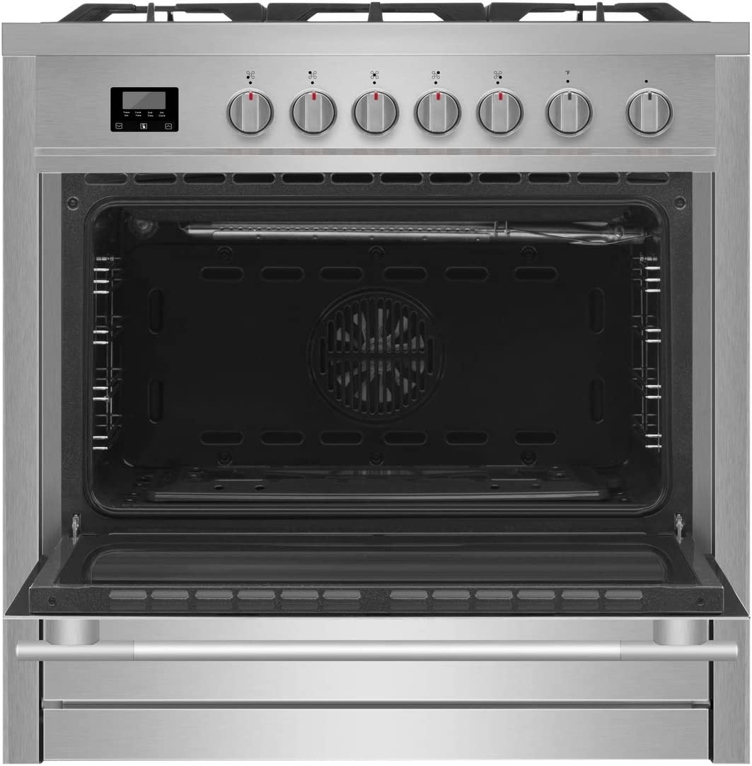 Empava 24XGC4B67A 24 Inch Stainless Steel Gas Professional 4 Italy Sabaf Burners Stove Top Certified with Thermocouple Protection Cooktops Silver
