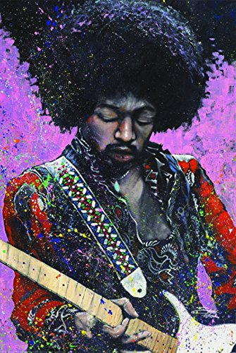 Jimi Hendrix - Stephen Fishwick Poster Print
