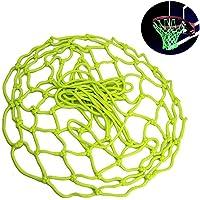 AOLVO Red de Baloncesto Que Brilla en la Oscuridad, Canasta de Baloncesto Universal de Repuesto para Interiores y Exteriores, Compatible con Todos los Aros de Baloncesto estándar