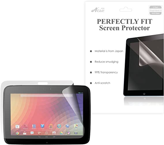 """3 Pack Clear Tablet Screen Protector Guard For 10.1/"""" Samsung Google Nexus 10"""