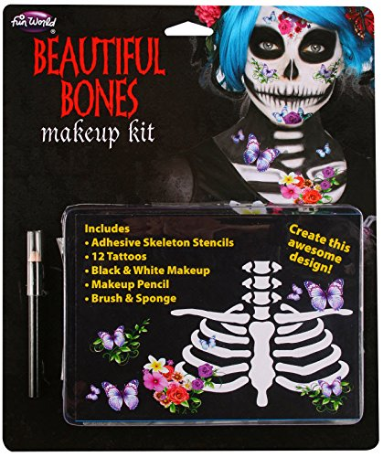 [Skeleton Makeup Kit Beautiful] (Skeleton Makeup)