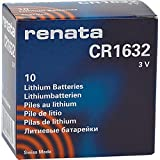 10 x Renata 1632 Watch Batteries, 3V Lithium CR1632, Plus Many More Battery Sizes Available