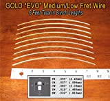 Fret Wire for Guitars and Banjos - Medium/Low Gauge - Jescar Gold EVO alloy - 6 feet