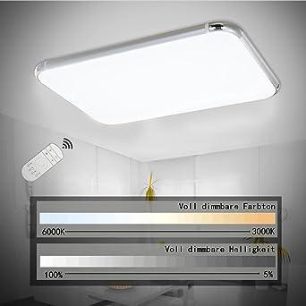 SPARKSOR 32W LED Deckenleuchte Deckenlampe Wohnzimmer bad Küche ...
