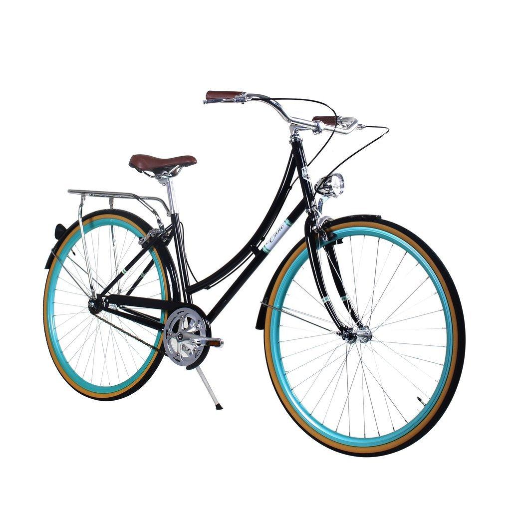 Zycle Fix 39 cmバイク固定ギアレディースシビックシリーズ自転車 – ブラックCelestial B01NAUCICK