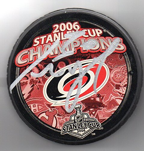 Cam Ward Autographed Puck Carolina Hurricanes 2006 Stanley Cup Champions