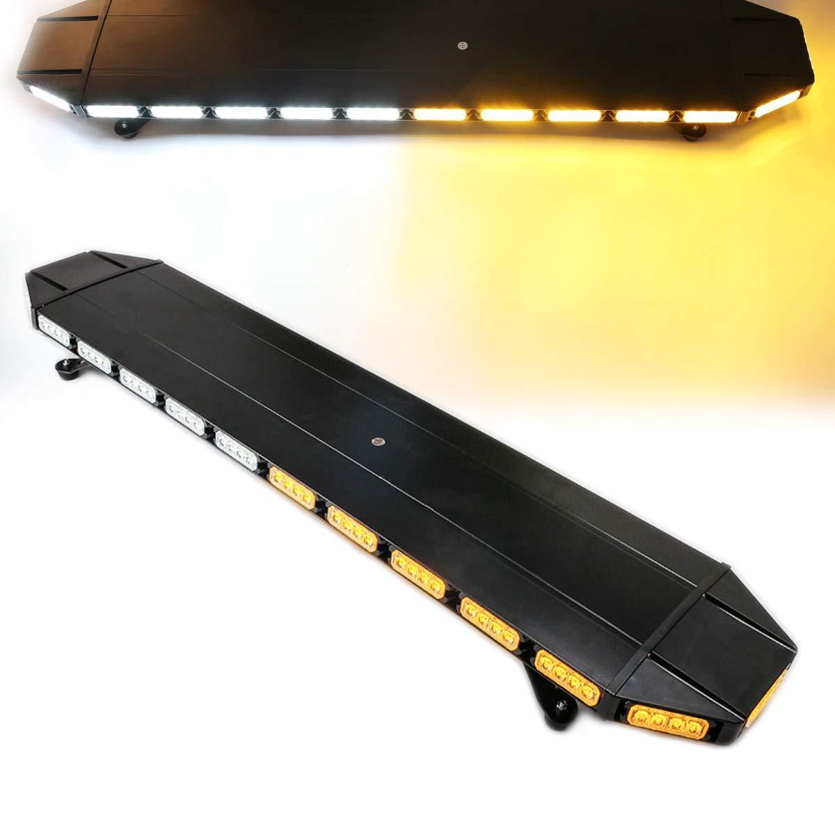 Fuguang 1PCS 48 Inch Truck DRL Running Board Step Light Bar 120LEDs 2835SMD White /& Amber Side Strip Light