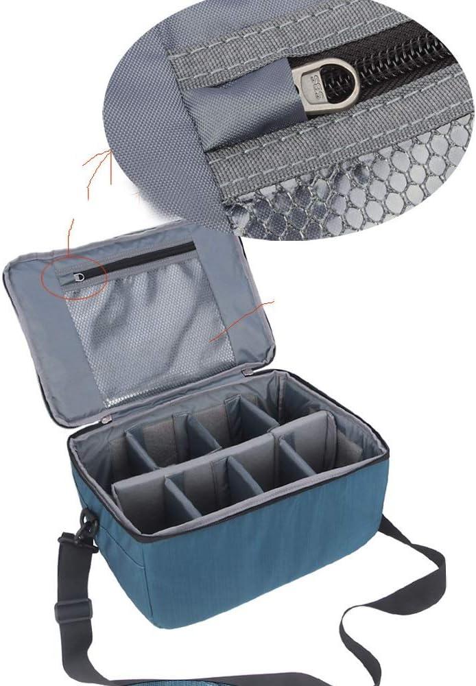 Qingbaotong Large-Capacity SLR Accessory Bag Digital Camera Bag SLR Camera Nylon Material Lining Bag Waterproof Dropproof //33 X 23 X 16cm Exquisite