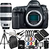 Canon EOS 5D Mark IV DSLR Camera with EF 100-400mm f/4.5-5.6L IS II USM Lens (International Version, No Warranty) 28PC Accessory Bundle - Includes 64GB Memory Card + 2 Replacement LP-E6 Batteries + MORE