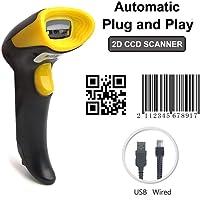 [Actualización 2.0] 2D QR Barcode Scanner MUNBYN CCD Escáner de Codigo de Barras Handheld USB con cable QR Code Scanner