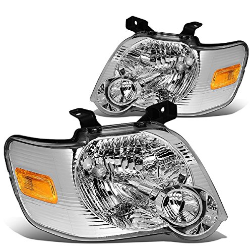 - DNA MOTORING HL-OH-FEXP06-CH-AM Headlight Assembly, Driver and Passenger Side