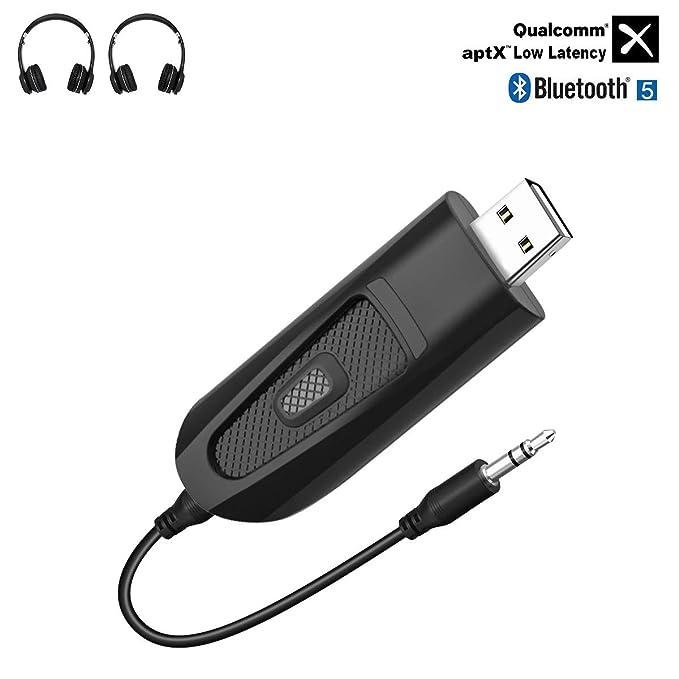 9 opinioni per USB Trasmettitore Bluetooth 5.0, aptX Bassa Latenza, 3,5 mm Adattatore Audio