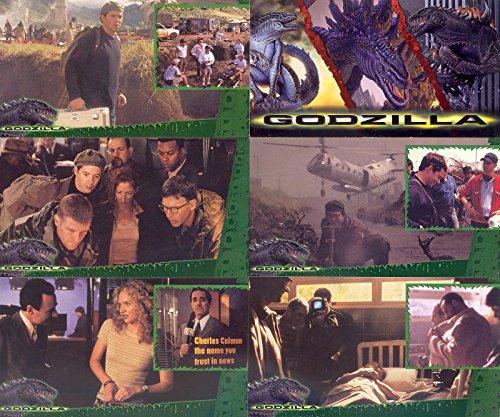 GODZILLA MOVIE SUPERVUE 1998 INKWORKS COMPLETE BASE CARD SET OF 72 WIDEVISION ()