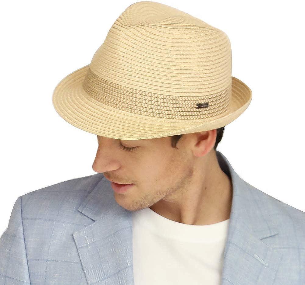Beach Hat for Summer Unisex Straw Fedora Hat Sun Hat