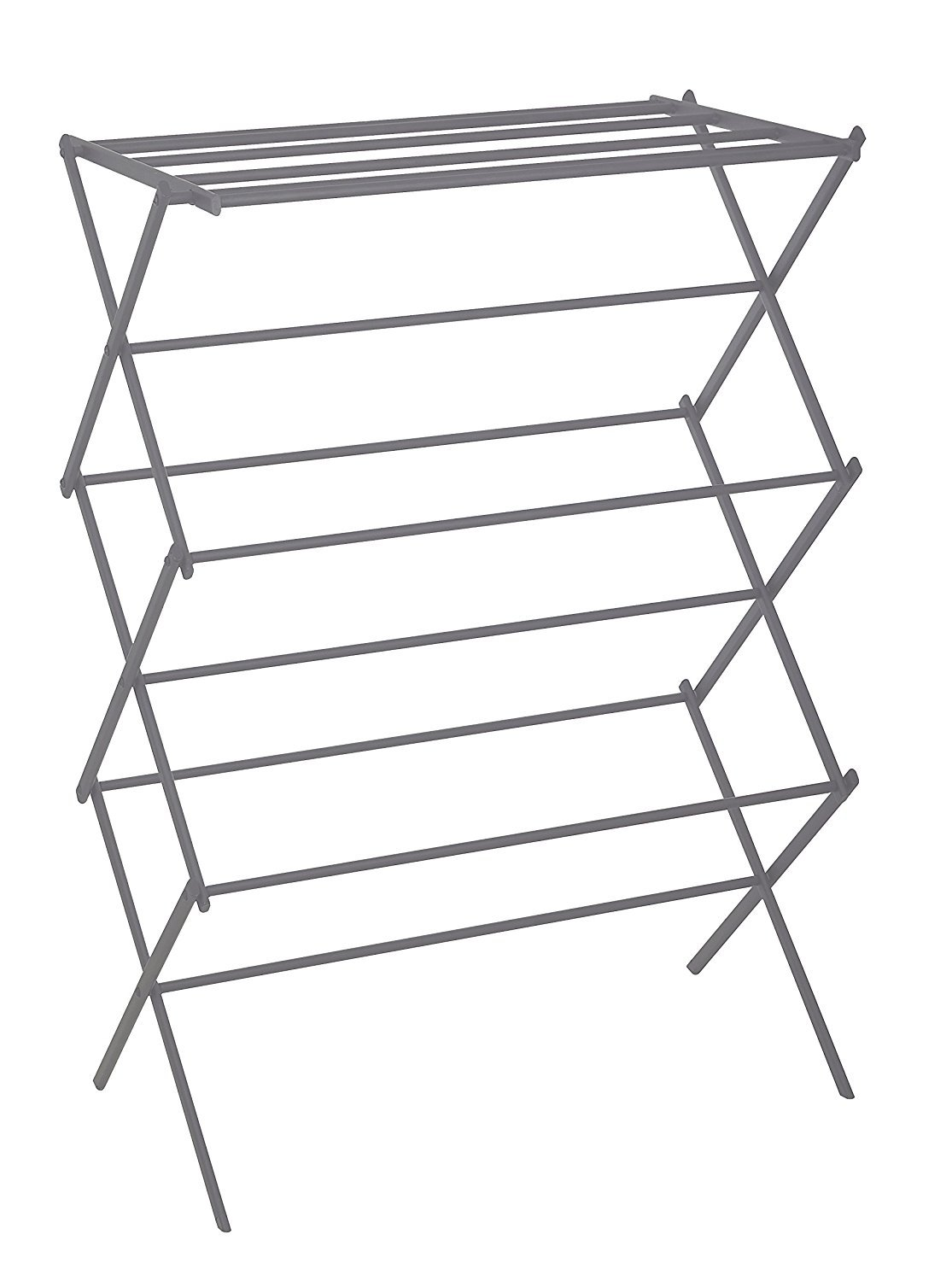 "Uniware Foldable Steel Clothes Drying Rack/Hanger, 41"" H x 28"" W x 16"" D (Grey) - Made of durable steel, easy to move Folds flat for storage Waterproof epoxy coating helps eliminate stains and mildew - laundry-room, entryway-laundry-room, drying-racks - 61tS%2BQXkWgL -"