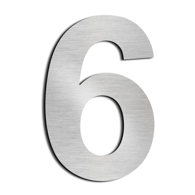 10 cm de altura aspecto flotante number 7 hecho de acero inoxidable 304 s/ólido un adhesivo Nanly N/úmero 1 de casa de acero inoxidable