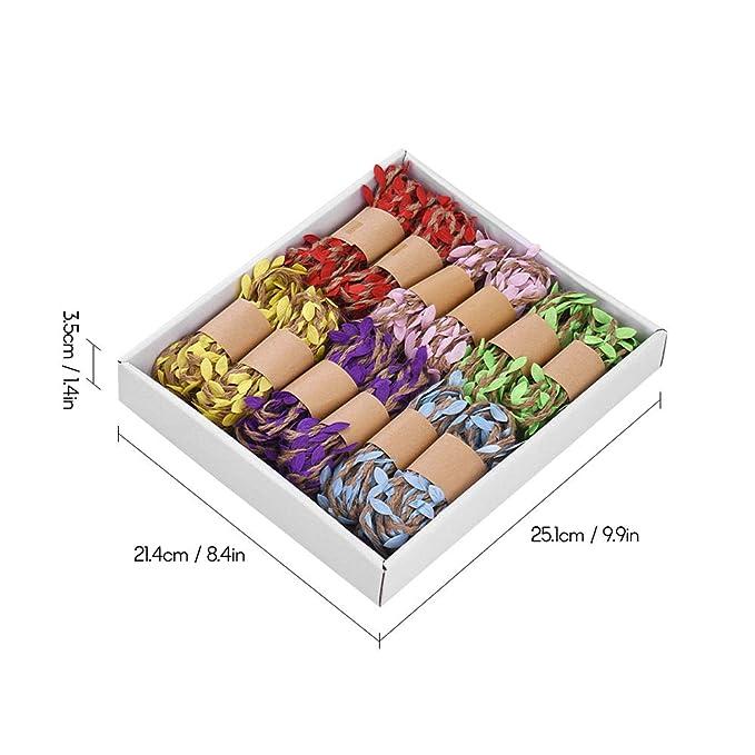12 Unids Coloridas Hojas de Yute Twine String Ball Arpillera ...