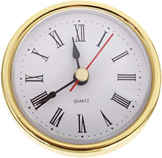 "2-1//2/"" 65mm Gold Trim Roman Numeral QUARTZ CLOCK FIT-UP//Insert"