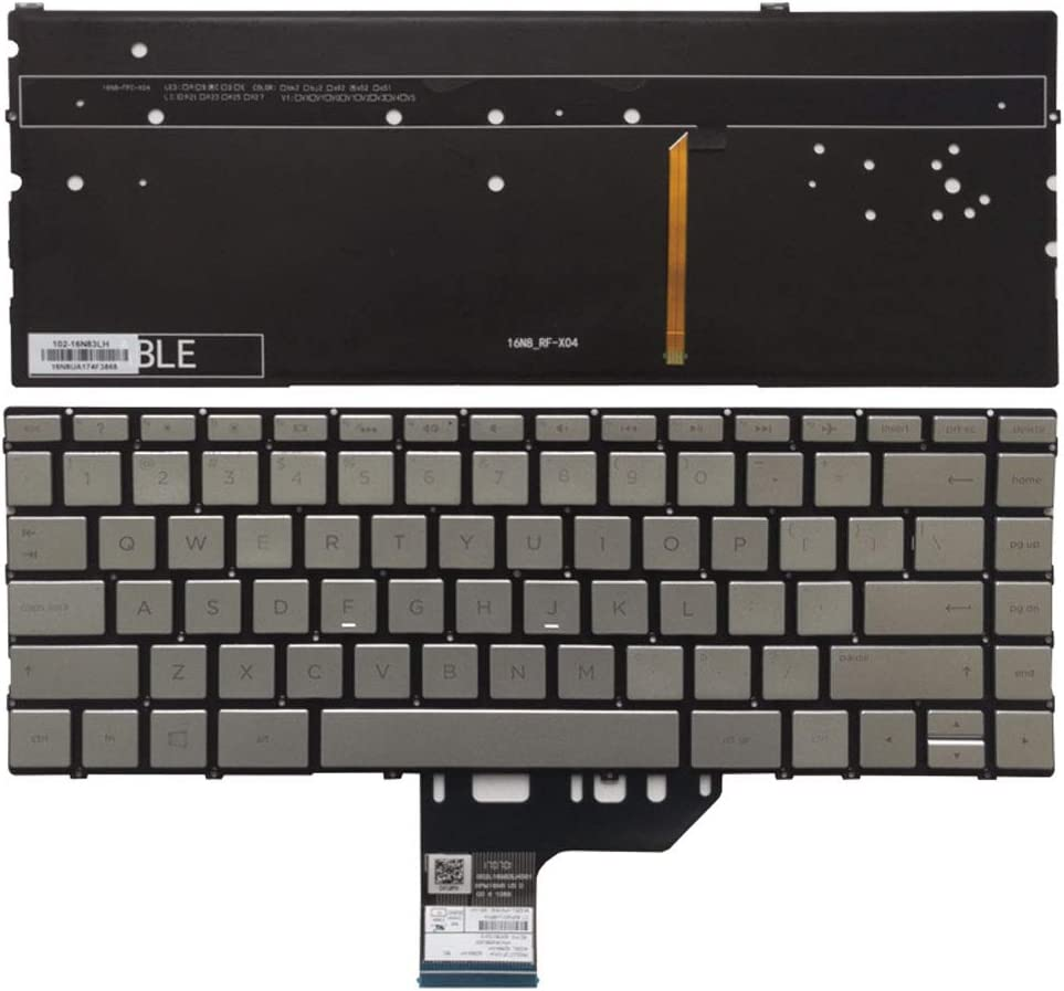 New Laptop Replacement Keyboard Fit HP Spectre 13-AC013DX 13-AC023DX 13-AC033DX 13-AC063DX 13-AC012TU X360 US Layout Backlight