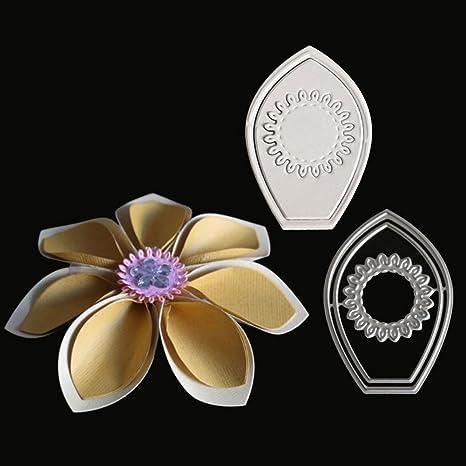 Troquel de corte de metal de UxradG, molde cortador de pétalos de flores, plantilla