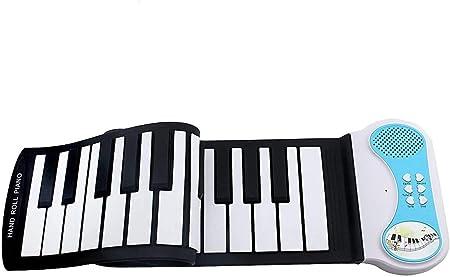 lifetsmart 37 clave Piano enrollable Teclado de Piano electrónico niños los niños, mini volumen suave silicona Flexible electrónico Digital música, ...