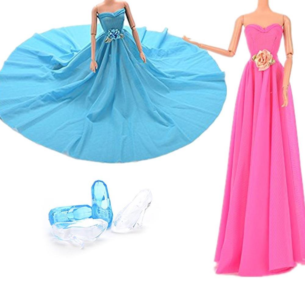 coscosx 2 Barbie vestidos ropa fiesta boda traje con 2 pares ...