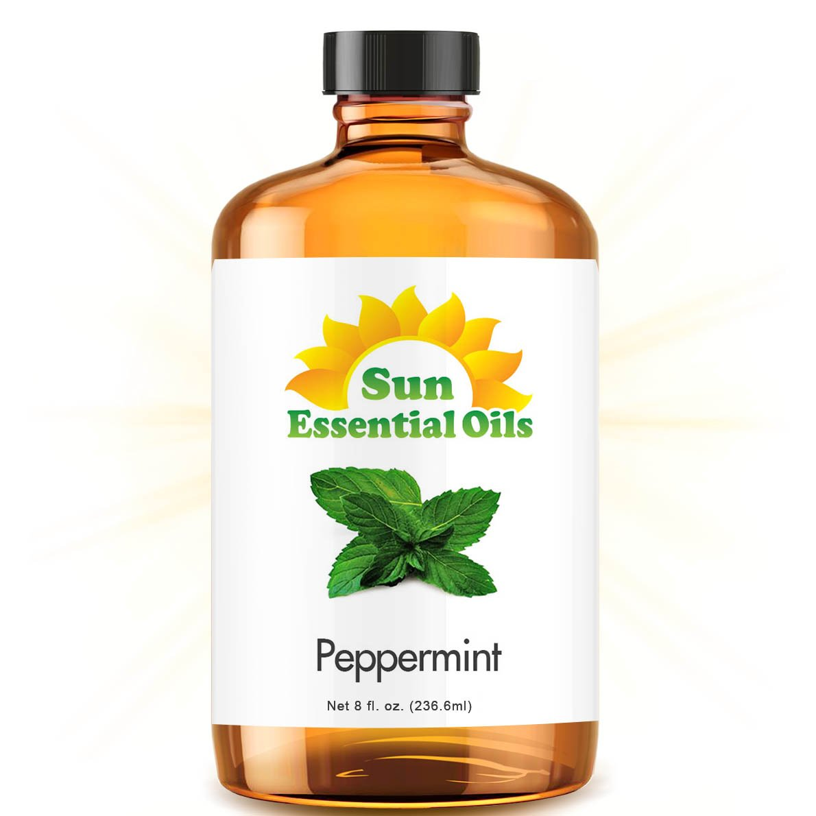 Peppermint (Huge 8oz) Best Essential Oil by Sun Essential Oils