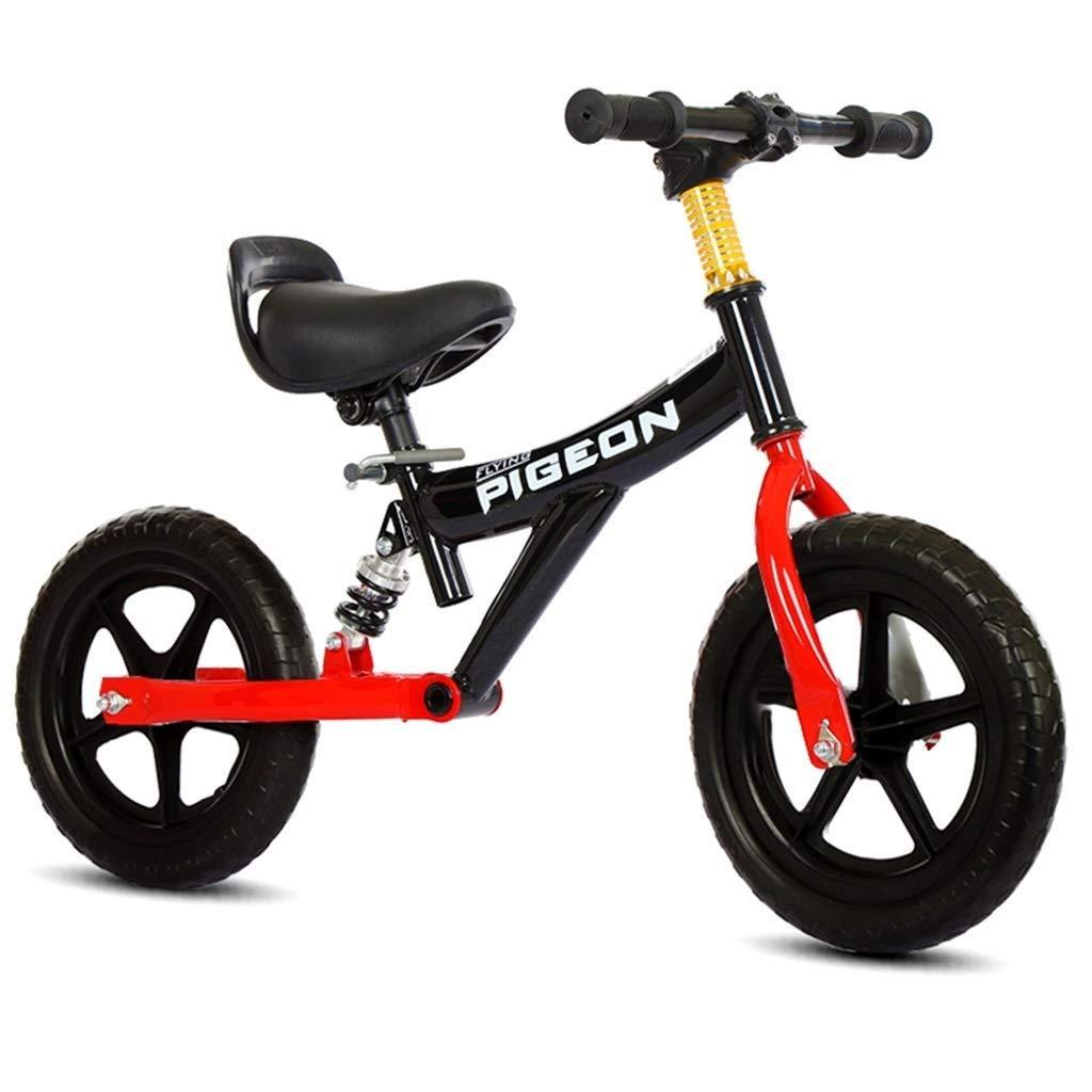 スポーツバランスバイク、ランニングバイクは、1/2/3/4/5/6歳の男の子のためのバランス - 軽量スポーツプッシュ自転車を取得するのに役立ちます、女の子、子供ファーストバイク、12インチ ZHAOFENGMING (Color : Black, Size : 12 inch) B07TFKDBHZ Black 12 inch