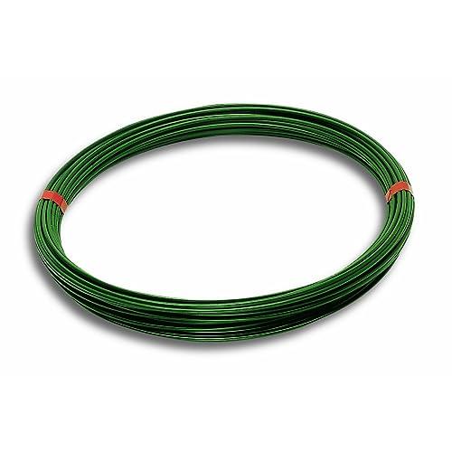 Chapuis FIT50 Fil tension acier plastifie Diamètre extérieur 2,7 mm L 50 m Vert