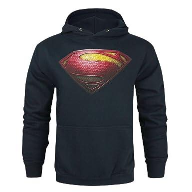 Superman - Sudadera Oficial con Logo de Hombre de Acero para Hombre (S/Azul): Amazon.es: Ropa y accesorios