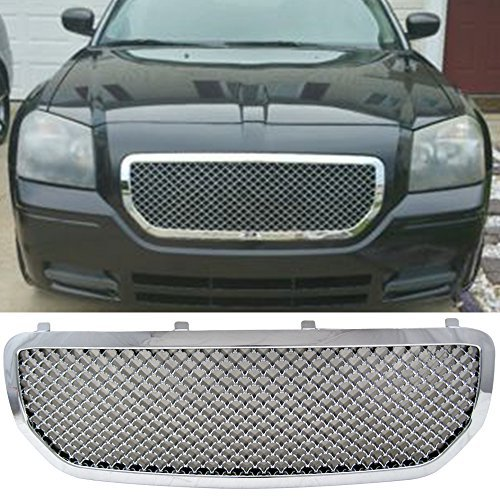 Dodge Magnum Mesh (2005-2007 Dodge Magnum Mesh Style Front Grill Grille Chrome - ABS)