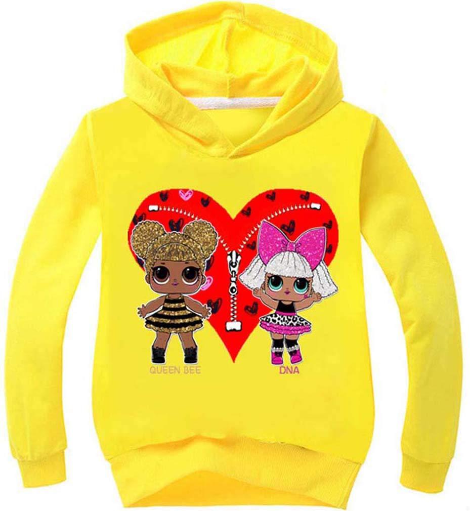 Socluer Bambola Carina 3D Magliette per Ragazze Felpa con Cappuccio Dolls Cartoon Game Girl's
