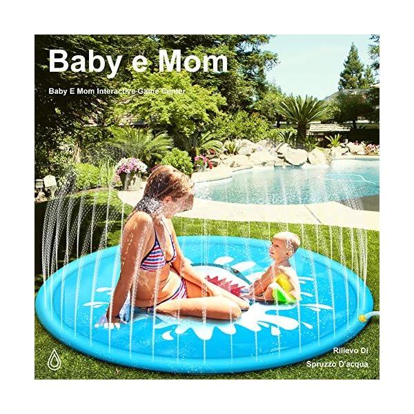 StillCool Tappetino Gioco d'Acqua per Bambini 67in/170cm Sprinklers Pad Portatile Giocattoli Water Sprinkle Splash… 2 spesavip